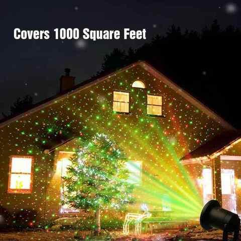 Лазерный проектор Star Shower + пульт + 6 PHOTOS Уличный