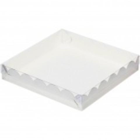 Коробка для печенья и пряников, 20*20*3,5см, (белая)