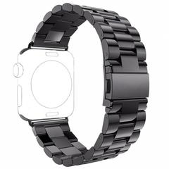 Блочный ремешок Fohuas из нержавеющей стали (Space Gray) для Apple Watch 42mm