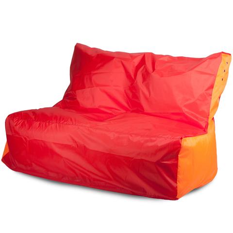 Бескаркасный диван «Классический», Красный и оранжевый