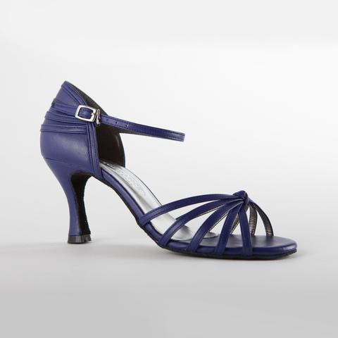 Синие кожаные туфли для танцев