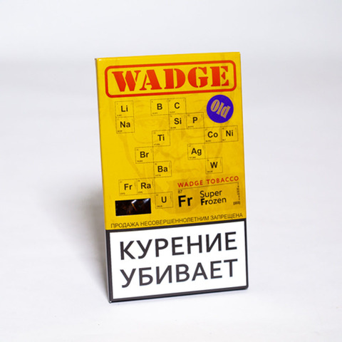 Табак WADGE OLD 100gr SUPER FROZEN