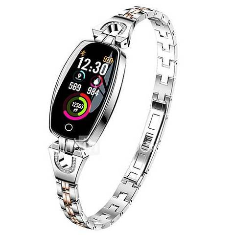 Женские умные часы  Smart Watch Lemfo H8 серебристые