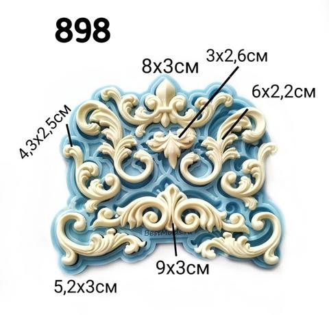 0898 Молд силиконовый. Набор орнаментов большой.