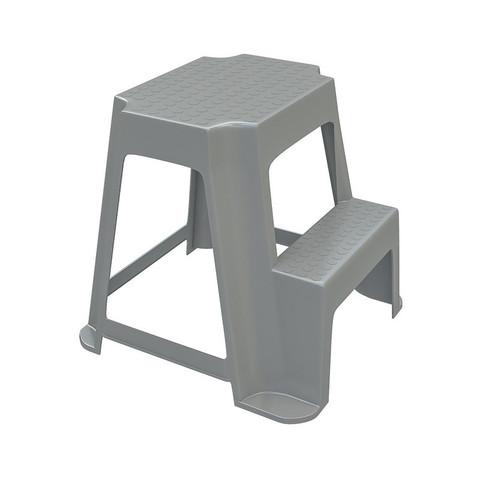 Табурет-стремянка передвижной EVR_Табурет-стремянка со ступенькой серый