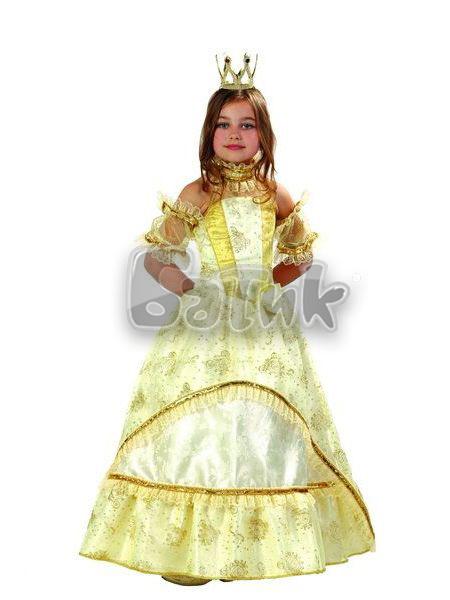 Детский карнавальный костюм Золушка-Принцесса золотая