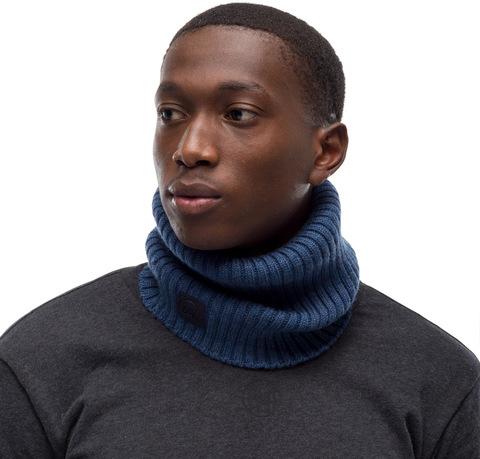 Модный шарф-труба Buff Neckwarmer Knitted Comfort Norval Denim фото 1