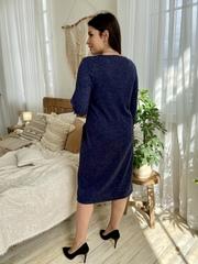 Камелия. Красивое женское платье больших размеров. Синий