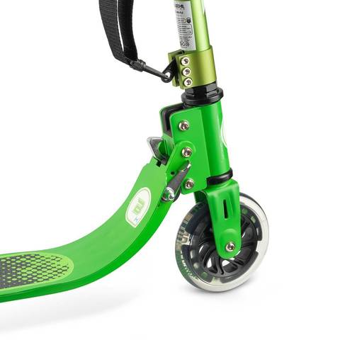 детский самокат со светящимися колесами блейд кидс джимми 125 зеленый