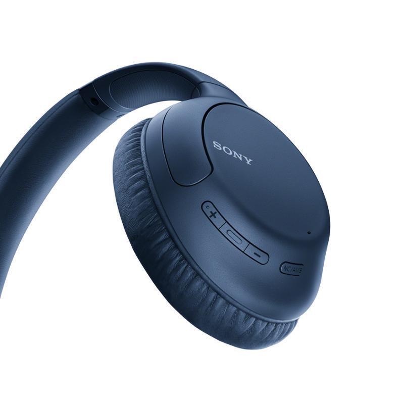 Беспроводные наушники Sony WHCH710NL синие с шумоподавлением