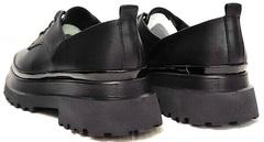 Женские кожаные туфли на платформе Marani magli M-237-06-18 Black.