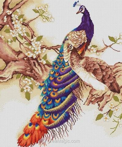 МаркаLUCA-S¶ТематикаЖивотный мир: Птицы¶Техникасчетный крест¶Размер31 х 36 см,¶Составканва Aida
