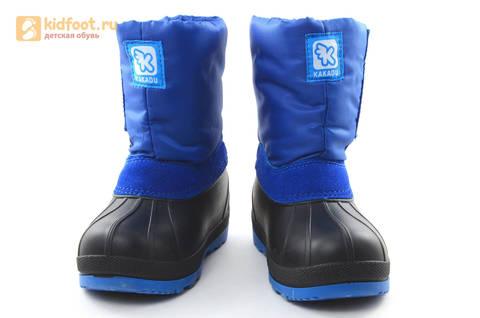 Зимние сапоги для мальчиков непромокаемые с резиновой галошей Фиксики, цвет синий, Water Resistant. Изображение 5 из 17.