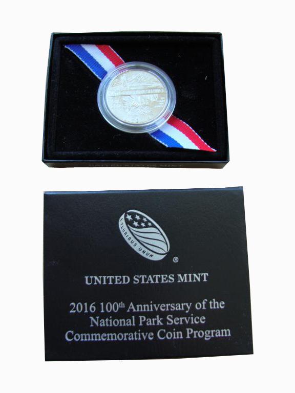 50 центов 2016 год. США. Служба национальных парков США 100 лет UNC
