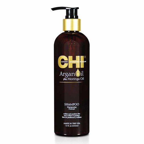 Шампунь восстанавливающий с экстрактом масла Арганы и дерева Моринга CHI Argan Oil Shampoo, 340 мл.