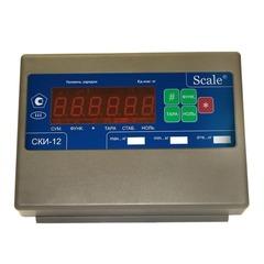 Весы платформенные СКЕЙЛ СКП 500-1215, LED, АКБ, 500кг, 200гр, 1200х1500, RS-232, стойка (опция), с поверкой, выносной дисплей