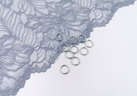 Кольца, 10 мм, металл, серебро, (Арт: КО/10-PS), премиум-класс, 50 шт