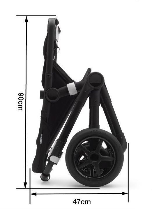 Коляска 2 в 1 Bugaboo Fox2 Complete Black/grey melange/grey melange