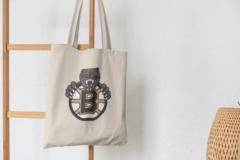 Сумка-шоппер с принтом Бостон Брюинз (NXL Boston Bruins) бежевая 006
