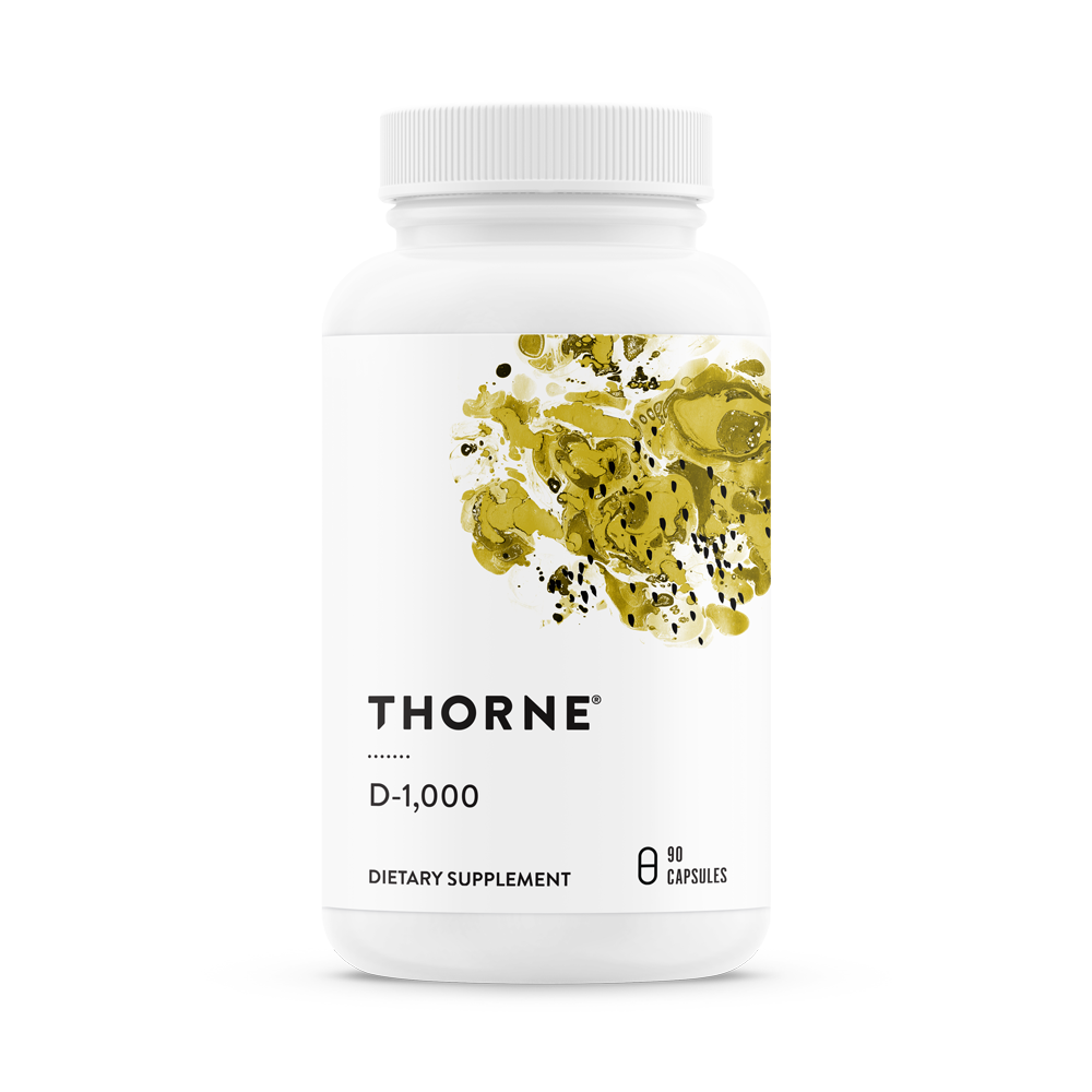 Витамин D, D-1000, Thorne Research, (90 капсул)