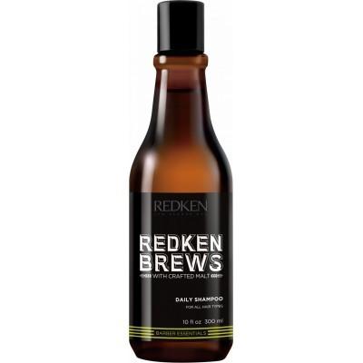 Redken Brews: Шампунь для ежедневного ухода за мужскими волосами и кожей головы (Daily Shampoo), 300мл/1000мл
