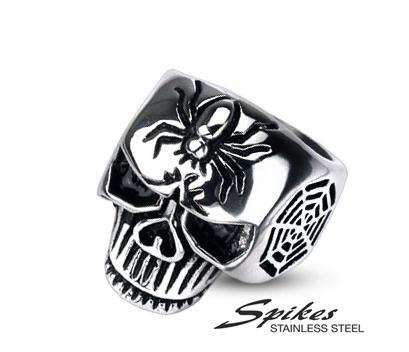 R-H2021M Мужское кольцо «Череп» из стали («Spikes»)