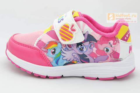 Светящиеся кроссовки Пони (My Little Pony) на липучке для девочек, цвет розовый. Изображение 3 из 8.