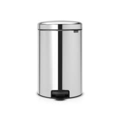 Мусорный бак newicon (20 л), металлическое внутреннее ведро, Стальной полированный