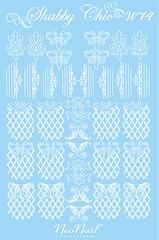 Трафарет для дизайна Shabby Chic 14 белый