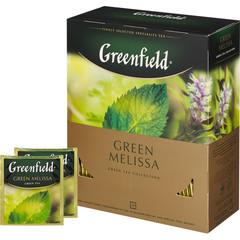 Чай Greenfield Green Melissa зеленый 100 пакетиков