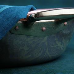 Тазик для варки варенья, объем 5 л, диаметр 30 см, медь, с бронзовыми ручками, серия Jam pot, 6250-30, RUFFONI, Италия