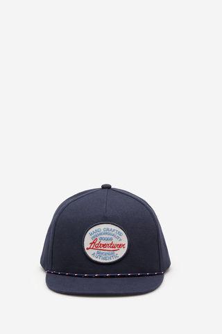 Синя кепка з написом