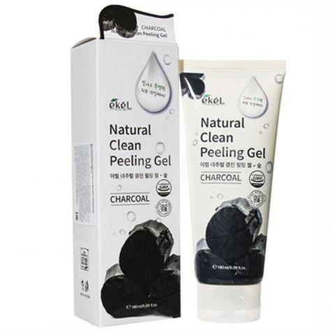 Ekel Natural Clean Peeling Gel Charcoal пилинг-скатка с древесным углем