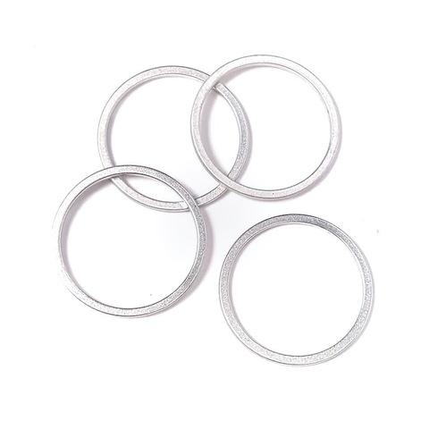 Деталь кольцо  16 мм цвет матовое серебро