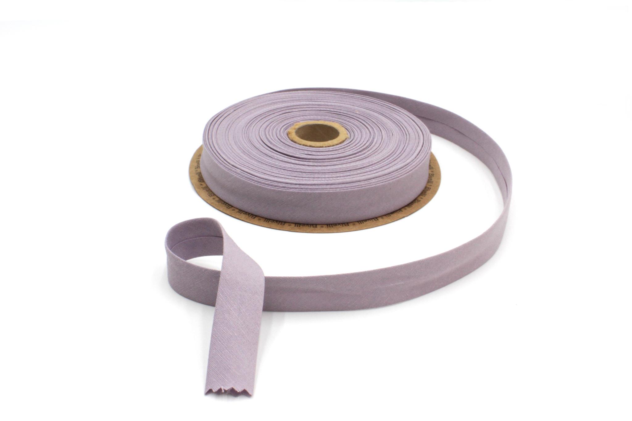 Бейка косая х/б,20 мм, пыльно-лиловый