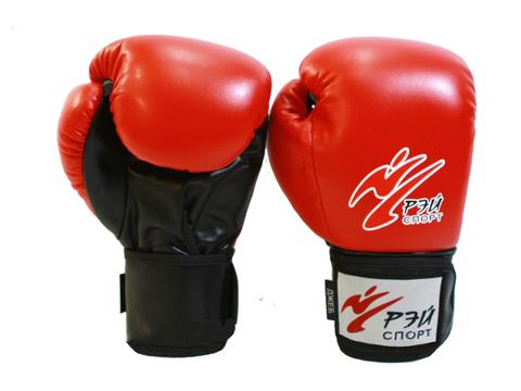 Перчатки боксерские ДЖЕБ, 8oz, исккожа, р.S (цв.красный) лБ52И8