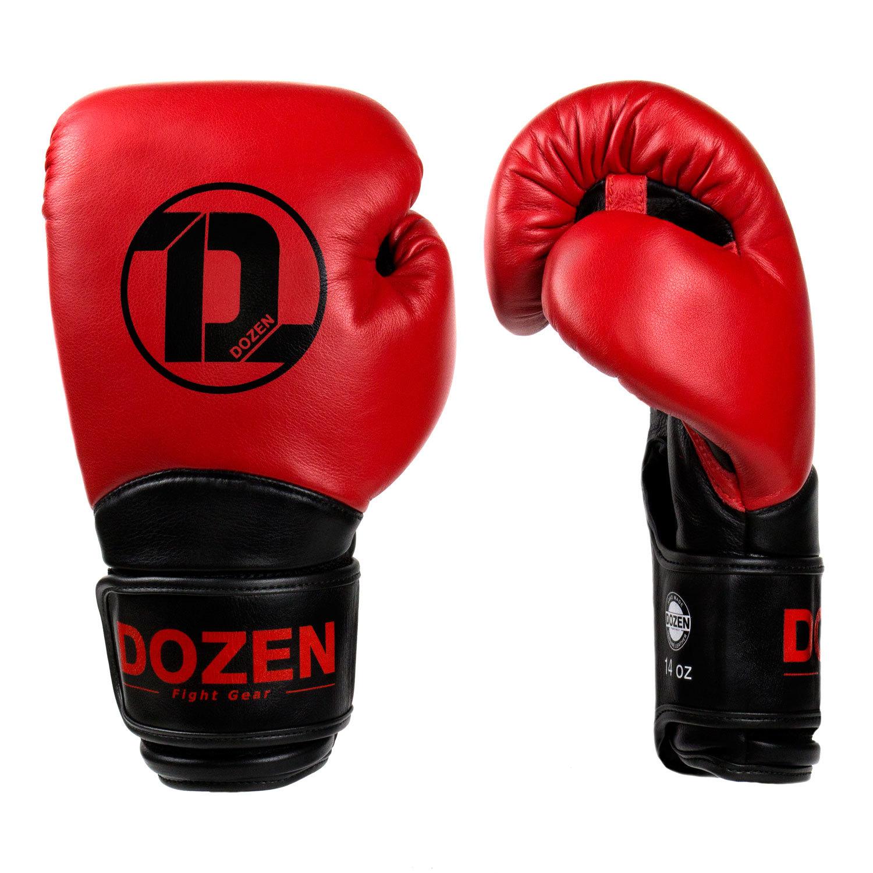 Перчатки Dozen Dual Impact Red/Black вид сбоку