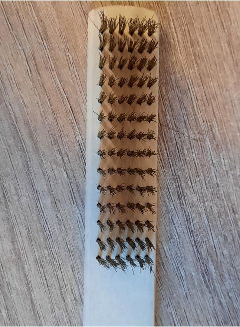Щетка латунная шестиядерная для чистки монет