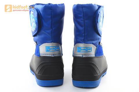 Зимние сапоги для мальчиков непромокаемые с резиновой галошей Фиксики, цвет синий, Water Resistant. Изображение 8 из 17.