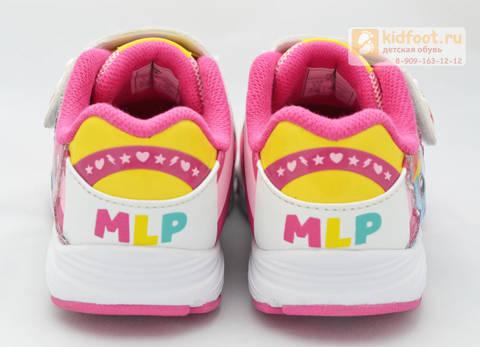 Светящиеся кроссовки Пони (My Little Pony) на липучке для девочек, цвет розовый. Изображение 4 из 8.