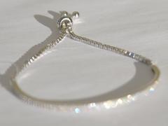 Браслет с регулятором длины(серебряный браслет).