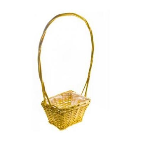 Корзина плетеная, 19х14х10/12х50см, желтый