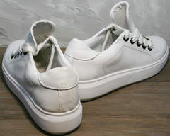 Женские кроссовки кожаные Molly shoes 557 Whate