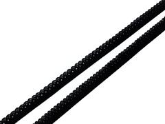 Резинка отделочная черная 10 мм