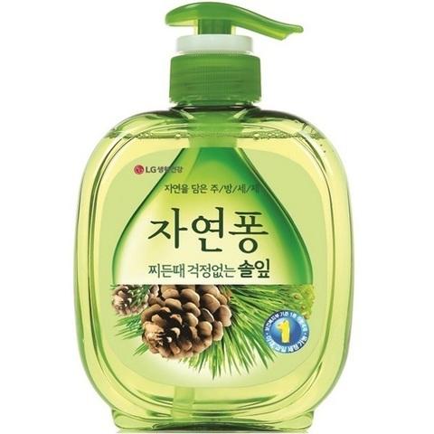 Жидкость для мытья посуды и кухонных принадлежностей LG Natural Pong Forest с экстрактом сосны 490 мл
