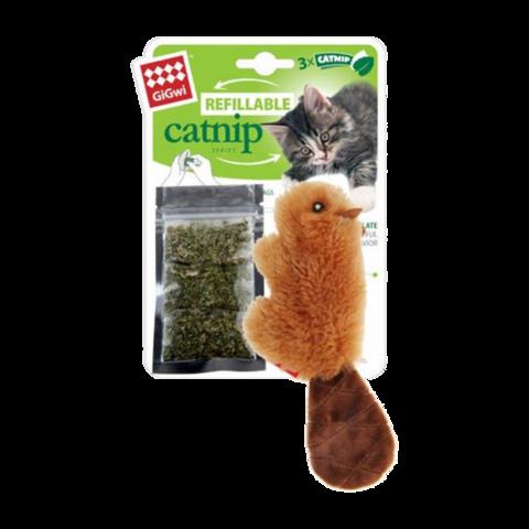 GiGwi Игрушка для кошек Бобрёнок с кошачьей мятой