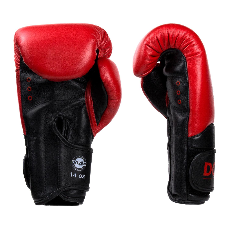 Перчатки Dozen Dual Impact Red/Black доворот и ладонь