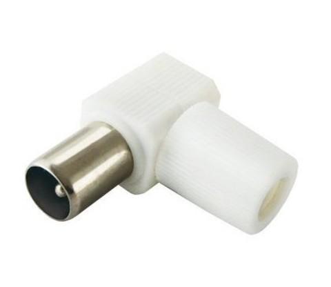 Штекер TV антенный угл. белый без пайки, инд. упаковка TDM (1/2500)