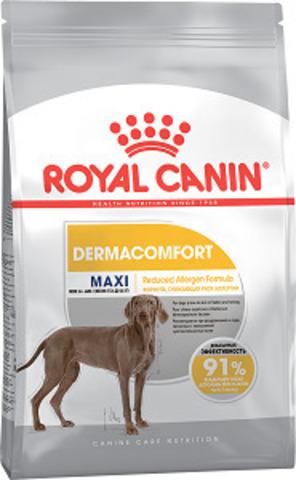 Royal Canin Maxi Dermacomfort сухой корм для собак крупных пород склонных к кожным раздражениям и зуду
