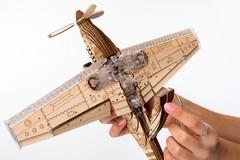 Самолет SpeedFighter от Veter Models - Пластиково деревянная механическая модель, истребитель, 3D пазл  Спидфайтер